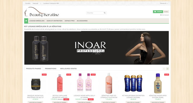 site ecommerce Beautykeratine