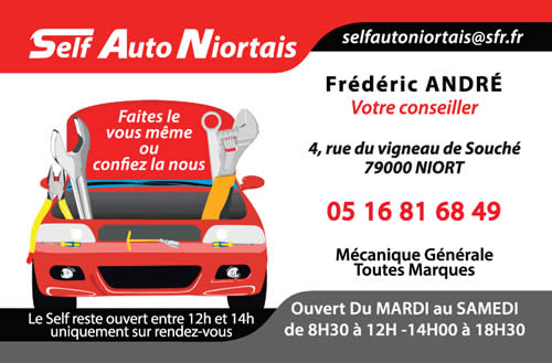 Carte De Visite Pour La Garage Self Auto Niortais Zoom